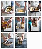 Cake Millerighe (Schokoladenkuchen mit geometrischem Muster) zubereiten