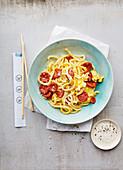 Shirataki-Nudeln mit Chorizo (Japan)