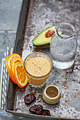 Vegan detox cooler with ginger