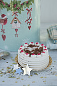 A mini Black Forest gingerbread gateau