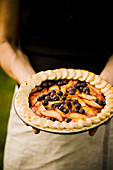 Nectarine and Blueberry Pie