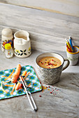 Tassensuppe Super Anti Ager: Suppe mit Karotten und Schwarzwurzeln
