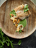 Carp with Jerusalem artichoke, quince and parsley sauce