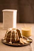 Poppyseed Bundt cake with coffee sabayon