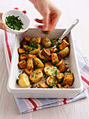 Roast parsley potatoes