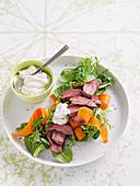 Tahini lamb salad