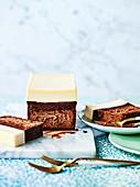 Triple choc cheesecake