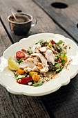 Grilled chicken with bulgur salad