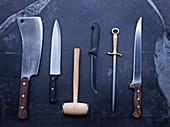Verschiedene Fleischmesser
