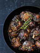 Ox tail ragout with thyme