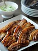Fried pork belly with parsley sauce