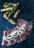 Vitello tonnato with asparagus