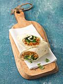 Möhren-Zucchini-Wraps