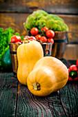 Gemüsestillleben mit Kürbissen