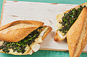 Ciabatta à la francaise with Camembert and tapenade