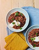 Chilli con quinoa