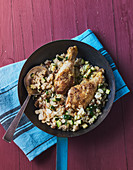 'Arabian Nights' fried chicken and couscous