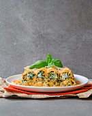 Cannelloni with a ricotta and spinach filling