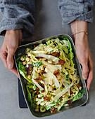 Pasta salad à la Caesar