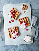 Sugar-free waffles with rice syrup