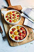 Clafoutis with tomatoes