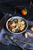 Roasted Brussels sprouts salad with mandarins (gluten free)