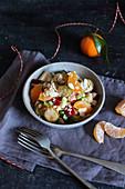 Gebratener Rosenkohlsalat mit Mandarinen (glutenfrei)