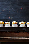 Passion fruit and sour cream muffins