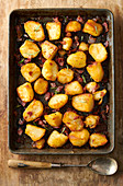 Oven-roasted potatoes with bacon and rosemary