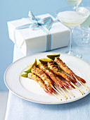 Skewered Prawns and Chilli Marinade