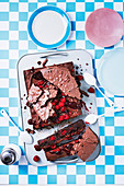 Brownie Eton Mess slice