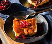 French toast with pomegranate seeds