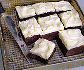 Brownies with frosting