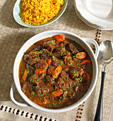 Beef ragout with carrots