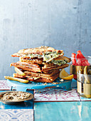 Three-cheese and spinach jaffles