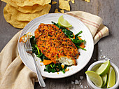 Spicy tilapia fillet with tortillas