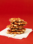 Peanut brittle, stacked