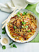 Asian pork and hoisin noodles