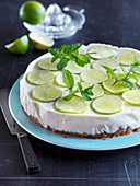 Key lime pie with mint (USA)