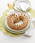 Serpe di Pienza (almond bread shaped like a snake, Italy)
