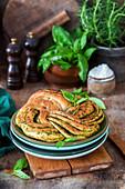 Geflochtenes Pesto-Brot