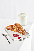 Croissant with jam