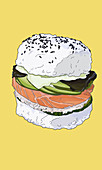Sushi burger (Illustration)
