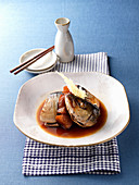 Hard-boiled Japanese amberjack