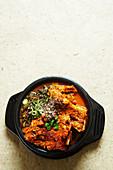 Bbyeo Haejangguk (spicy stew of pork spine, Korean Food)
