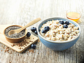 Blueberry Chia Seed Oatmeal