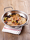 Veal escalope with grapes
