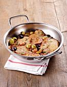 Kalbsschnitzel mit Trauben