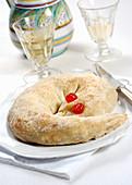Serpentone delle monache (Italian nut cake)