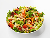 Mixed salad with poultry